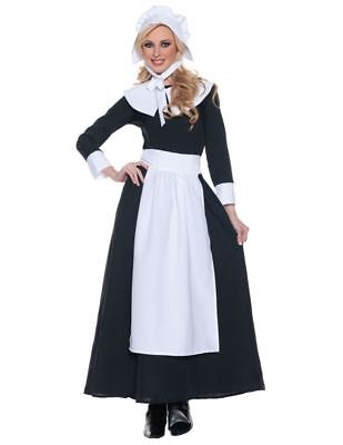 Pilgrim Woman Costume Adult Colonial Thanksgiving Historical Pioneer Halloween](Halloween Pioneer Woman)