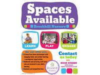 ⭐Brookhill Nursery have spaces available⭐