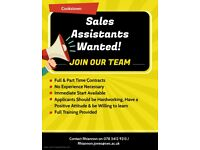 Sales Assistants Urgently Wanted