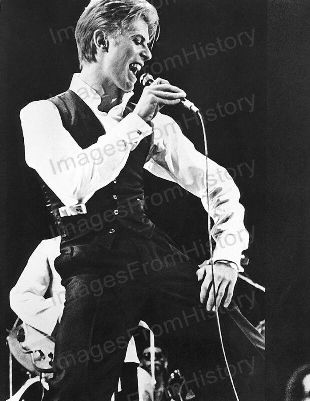 8x10 Print David Bowie on Stage Performing Dance Tour #DBDT