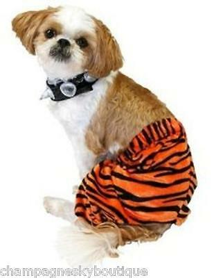 NWT Size X-Large  * 2-PIECE PUNK ROCKER *  Dog Halloween Costume Tiger XL