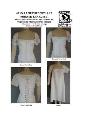 Ladies Regency and Romantic Era Corset Laughing Moon Sewing Costume Pattern #115 (Era Costumes)