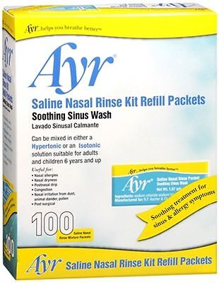 Ayr Sinus Rinse Refill Packets 100 Each (pack Of 3)