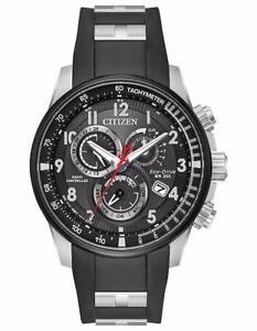 Citizen Promaster AT4138-05E World Time Rubber Radio Controlled Men's Watch