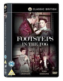 Footsteps in The Fog (1955) Classic starring Stewart Granger, Jean Simmons, RARE, DELETED DVD!