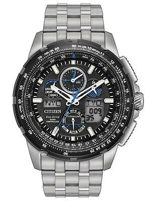 Citizen Eco-Drive JY8068-56E Men's LIMITED EDITION Skyhawk AT Titanium Watch