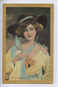 AF07-Actress-Miss-Gabrielle-Ray-with-Large-Hat-1907-Used