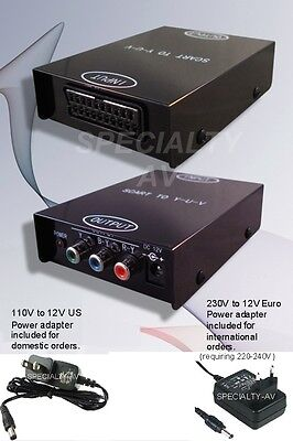 Scart Rgb To Yuv Component Video Converter,scaler