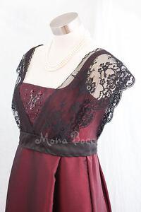 12 Edwardian Titanic evening dress Handmade in UK lace Rose jump dress