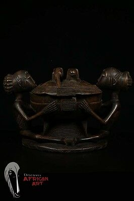 Discover African Art Hemba Double-Figure Container – DR Congo
