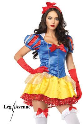 Classic Snow White Kostüm - Leg Avenue Größe: - Snow White Komplett Kostüm