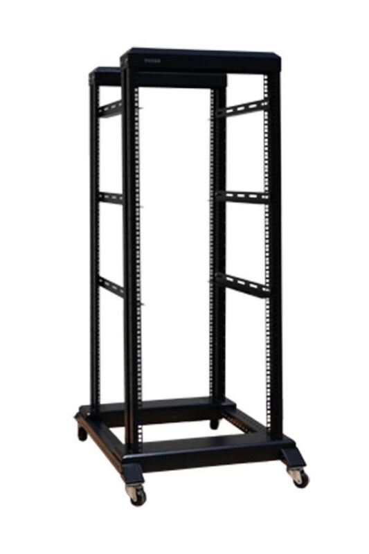 27U 4 Post Open Frame Network Server Rack 800MM Deep With 3 pairs of L Rails