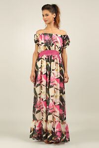 ANMOL-KUSHI-Floaty-Tropical-Print-Maxi-Dress-PINK-FLORAL-Print-Sizes-10-to-22