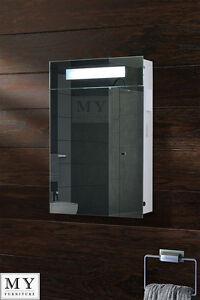 ILLUMINATED BATHROOM MIRROR CABINET / SHAVER SOCKET / SENSOR / DEMISTER -ATOMIC