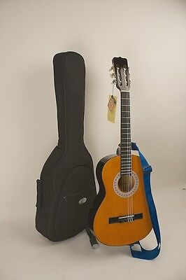 Guitar 3/4 Size LEFT HANDED W/ Easy Play Stay In Tune Nylon Strings Strap Case