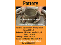Pottery Classes for all Ages and Abilities