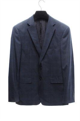 CALVIN KLEIN Mens 3167 Wool Blend Slim Fit Plaid Jacket Blazer -