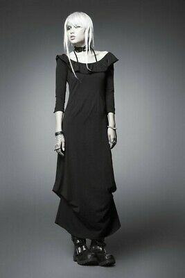 Punk Rave Black Maxi Dress NWOT Gothic Witch Dark Mori Girl Grunge Steampunk