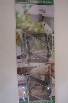 PACK OF 4 TABLECLOTH HOLDERS-NEW