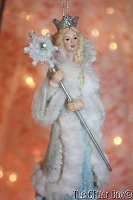 Christmas Ornaments Winter Princess Faux Fur Silver Crown Kurt Adler Xmas ()