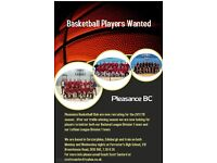 Basketball players wanted