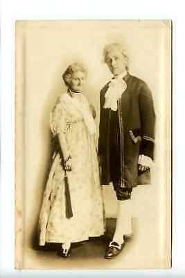 RPPC, Costumed Martha and George Washington, Kansas City, 1917, Embossed Edge - Historical Figure Costume