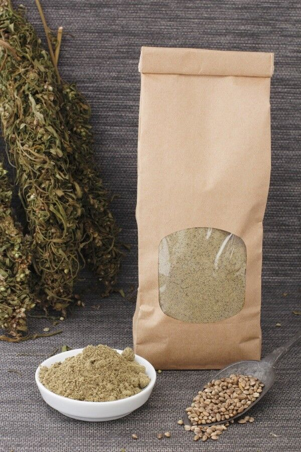 Bio Hanfprotein 41,2% Eiweiß  Glutenfrei Ballaststoffreich 1kg DE-ÖKO-039
