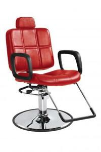 RED SHAMPOO STYLING HYDRAULIC BARBER CHAIR HAIR BEAUTY SALON EQUIPMENT RECLINING - BRAND NEW - FREE SHIPPING