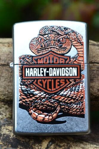 Zippo Lighter - Harley Davidson - H-D Rattler - Rattlesnake Bar & Shield - 21072