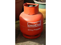 Two Calor Gas 3.9k Propane cylinders