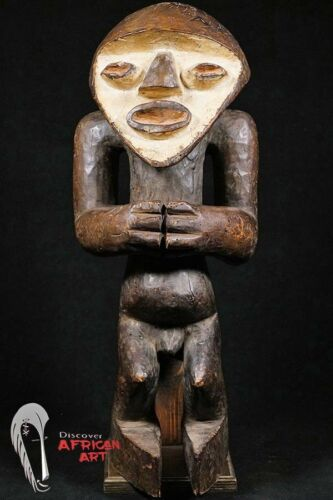 "Mambila Figure with Base 20.5"" - Cameroon - African Art"