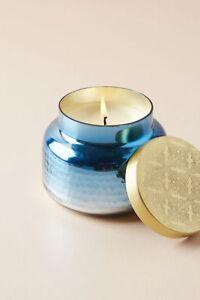 Anthropologie Blue Volcano Iridescent Jar Mini Candle Gift Capri Blue