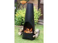 Gardeco Oslo Contemporary Garden Fireplace Chimenea Fire Pit - FREE DELIVERY