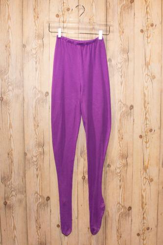 STEPHEN SPROUSE 1990s Vintage Purple Cotton Feet Tights SIZE MEDIUM VTG