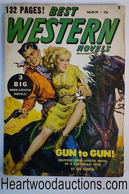 Best Western Mar 1949 Allen Anderson Gga Cvr Cowgirl Rides To Safety