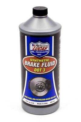- Lucas Oil 10826 DOT 3 Brake Fluid Synthetic Sold Individually - 1 qt Each