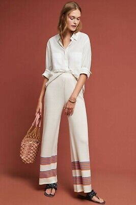 NEW Anthropologie $180 Hvar Striped Pants By Azulu Size 4