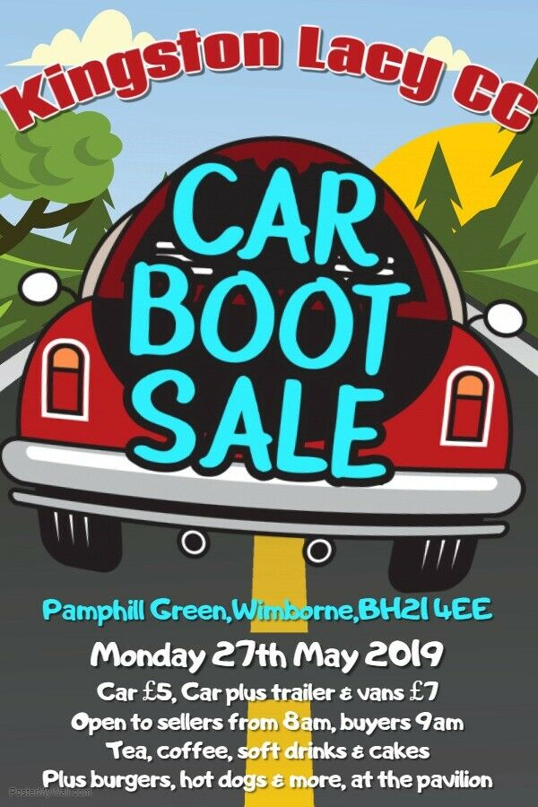 9d52b1c7ead Kingston Lacy Car Boot Sale Bank Holiday Monday 27th May 2019.   in ...