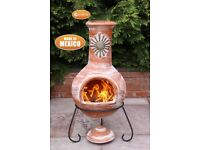 Gardeco Extra-Large Mexican Chimenea Sol Rustic Orange - FREE DELIVERY