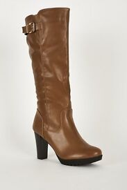 SALE! Just till MIDNIGHT! Long Boots With Single Strap And Buckle