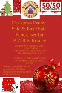 Bark Dog Rescue Penny Sale and Bake Sale