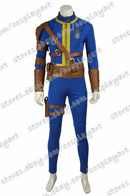 Fallout 4: Far Harbor Vault Boy 111 Cosplay Costume Jumpsuit Uniform Full Set ](Vault Jumpsuit Costume)