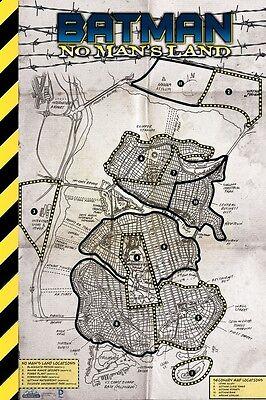 DC HeroClix No Man's Land Month op kit One Gotham City Laminated Map (still seal