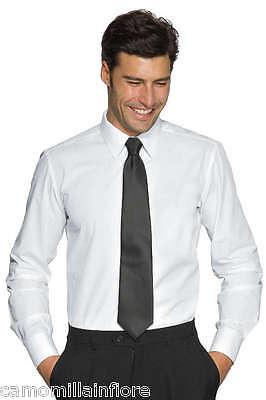 Camicia Uomo Bianca Tg L 42 Da Cerimonia Elegante Aderente Elasticizzata Slim