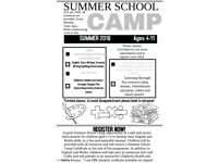 Summer School Camp (Ages 4-11). English/Maths/Arts&Crafts/Health&Safety