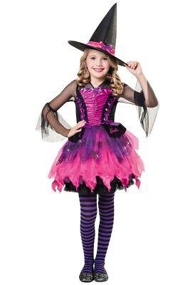 ★ Halloween Cesar Barbie Hexe Kleid 98-104-110 - 122-128-140 Prinzessin Kostüm