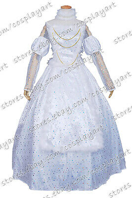 Alice In Wonderland The White Queen Costume (Alice In Wonderland Cosplay The White Queen Costume White Organza Dress)