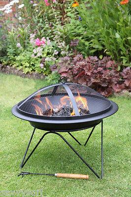 Contemporary Steel Fire Pit Fire Bowl Chimenea Garden Incinerator Patio Heater