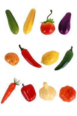 Deko Gemüse und Obst 12-teilig Möhre Kürbis Chilli Zitrone Apfel basteln - Obst Und Gemüse Kostüm