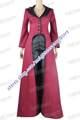 Once Upon A Time Evil Queen Regina Mills Cosplay Costume Uniform Halloween](Once Upon A Time Red Halloween Costume)